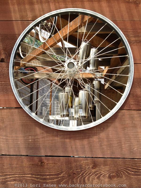 Bike Wheel Recycle Backyard Roots