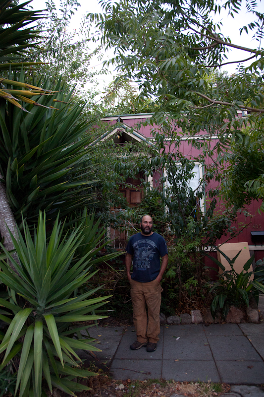 Gary has planted over 20 fruit trees along the sidewalk of his Berkeley home.