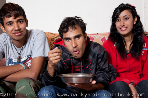 Chhali Mainali's three kids: Chandra, Kumar and Donna